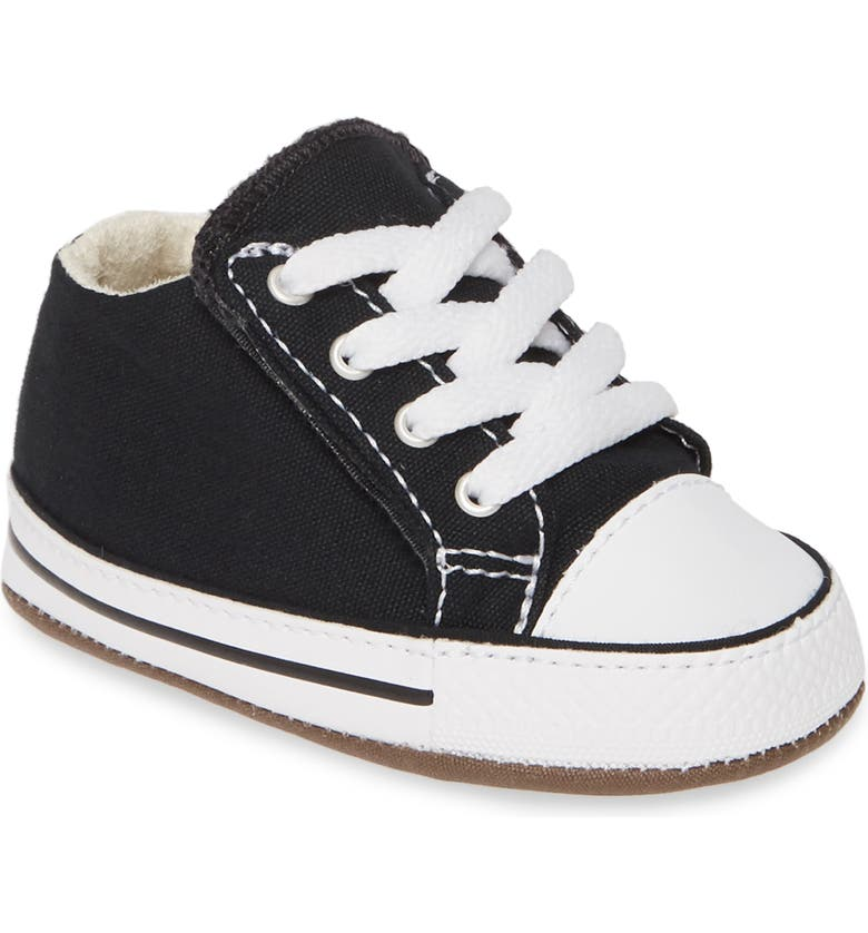 CONVERSE Chuck Taylor<sup>®</sup> All Star<sup>®</sup> Cribster Low Top Crib Shoe, Main, color, BLACK/ NATURAL IVORY/ WHITE