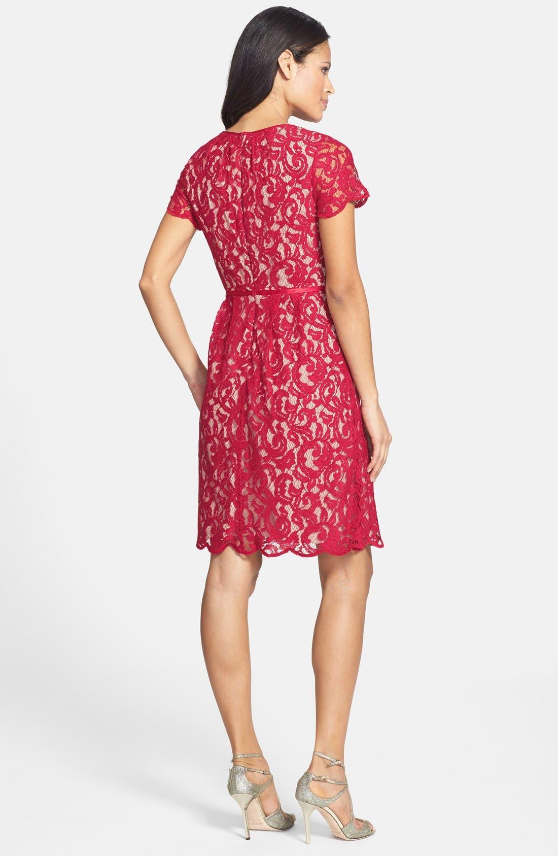 ,                             Scalloped Lace Dress,                             Alternate thumbnail 22, color,                             617