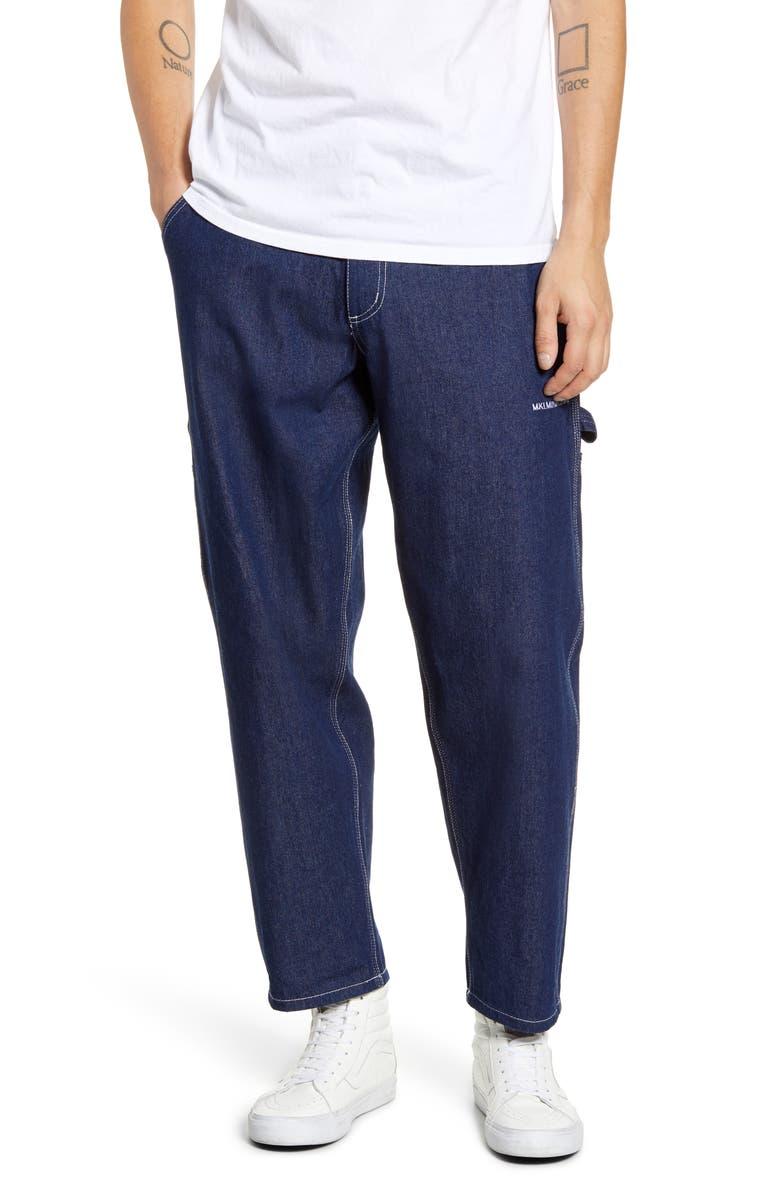 MKI MIYUKI ZOKU Raw Denim Carpenter Jeans, Main, color, RAW
