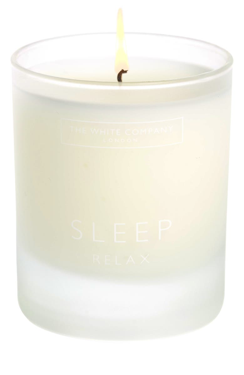 THE WHITE COMPANY Natural Sleep Candle, Main, color, WHITE