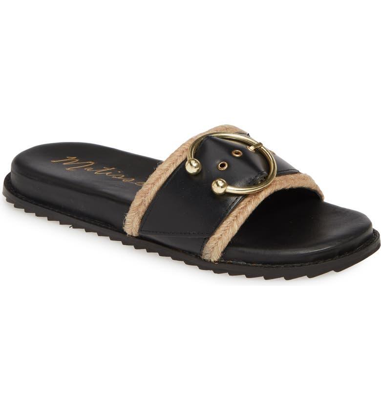 MATISSE Hampton Slide Sandal, Main, color, BLACK