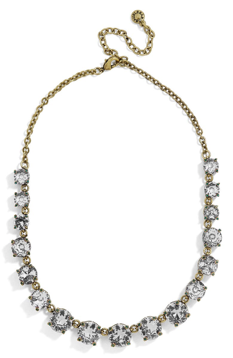 BAUBLEBAR Crystal Collar Necklace, Main, color, 020