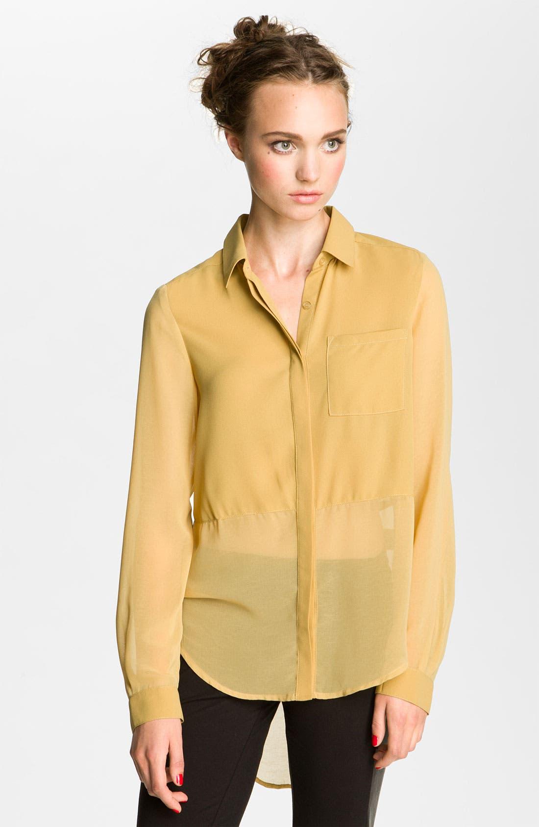 ,                             Lush Sheer Panel High/Low Shirt,                             Main thumbnail 17, color,                             703