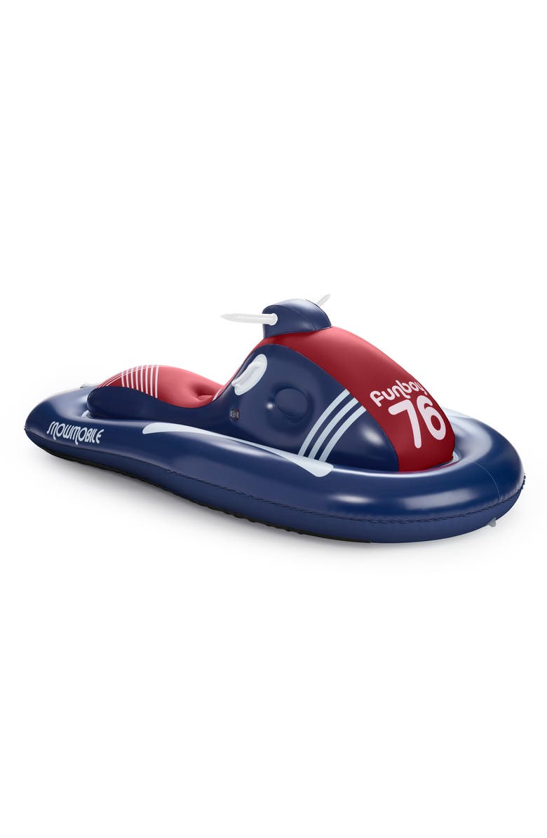 FUNBOY French Flyer Snowmobile Sled, Main, color, BLUE