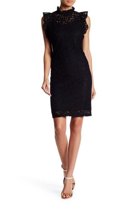 Image of Alexia Admor Lace Cap Sleeve Sheath Dress
