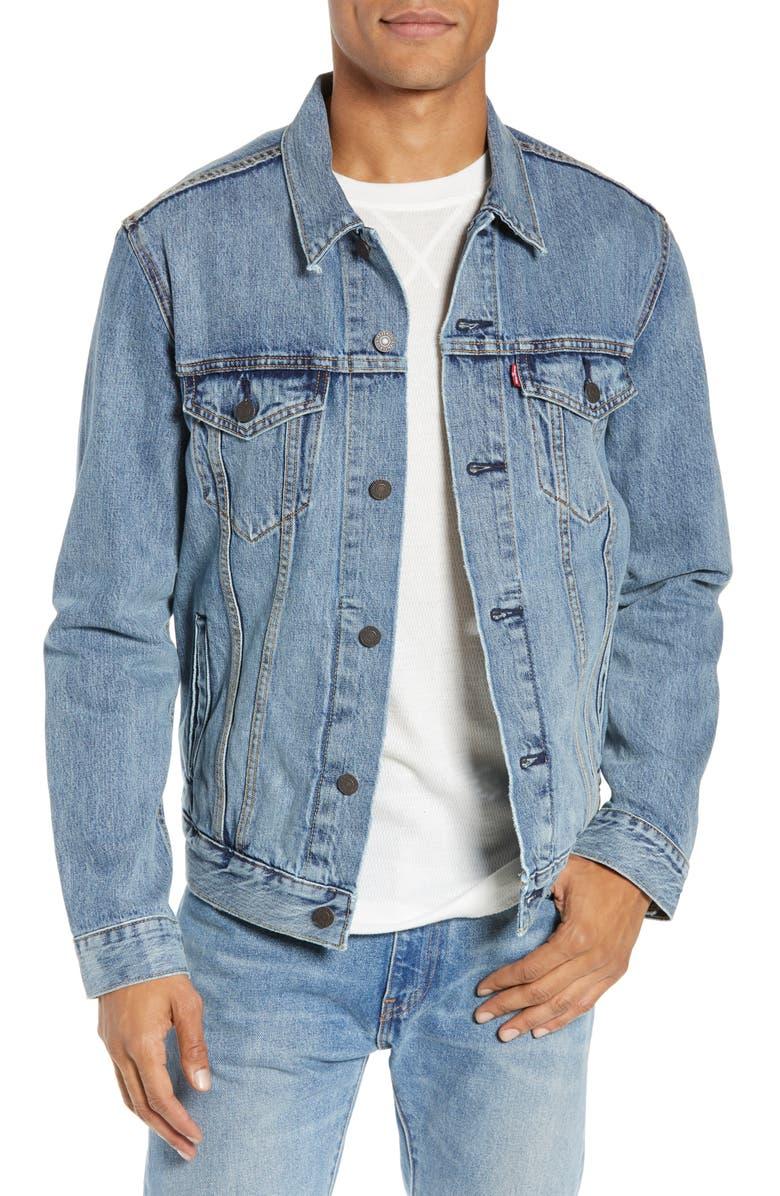 LEVI'S<SUP>®</SUP> Denim Trucker Jacket, Main, color, 450