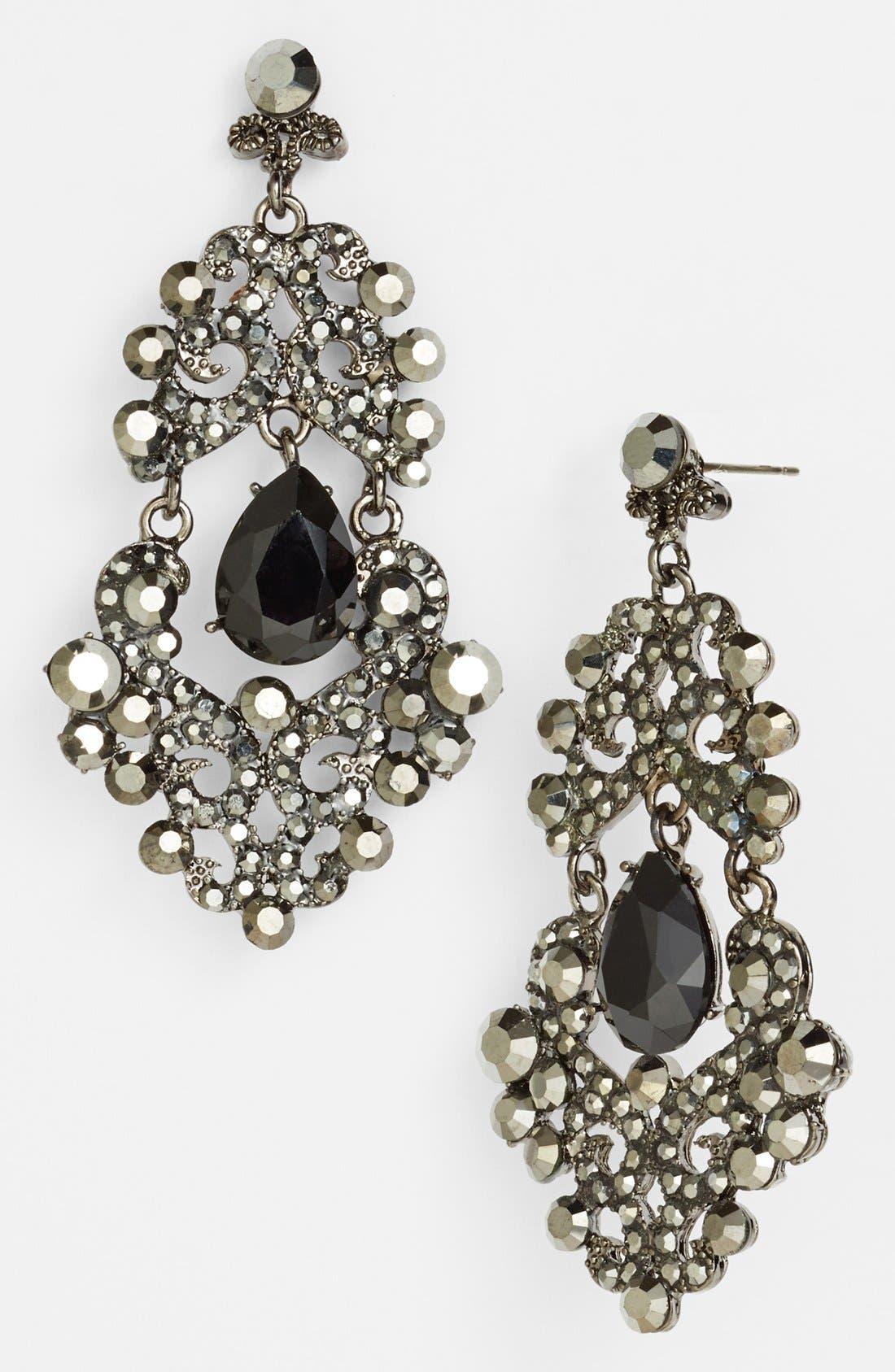 ,                             Ornate Chandelier Earrings,                             Main thumbnail 4, color,                             020