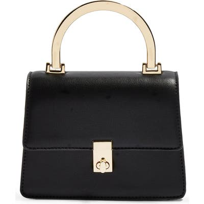 Topshop Champagne Shoulder Bag - Black