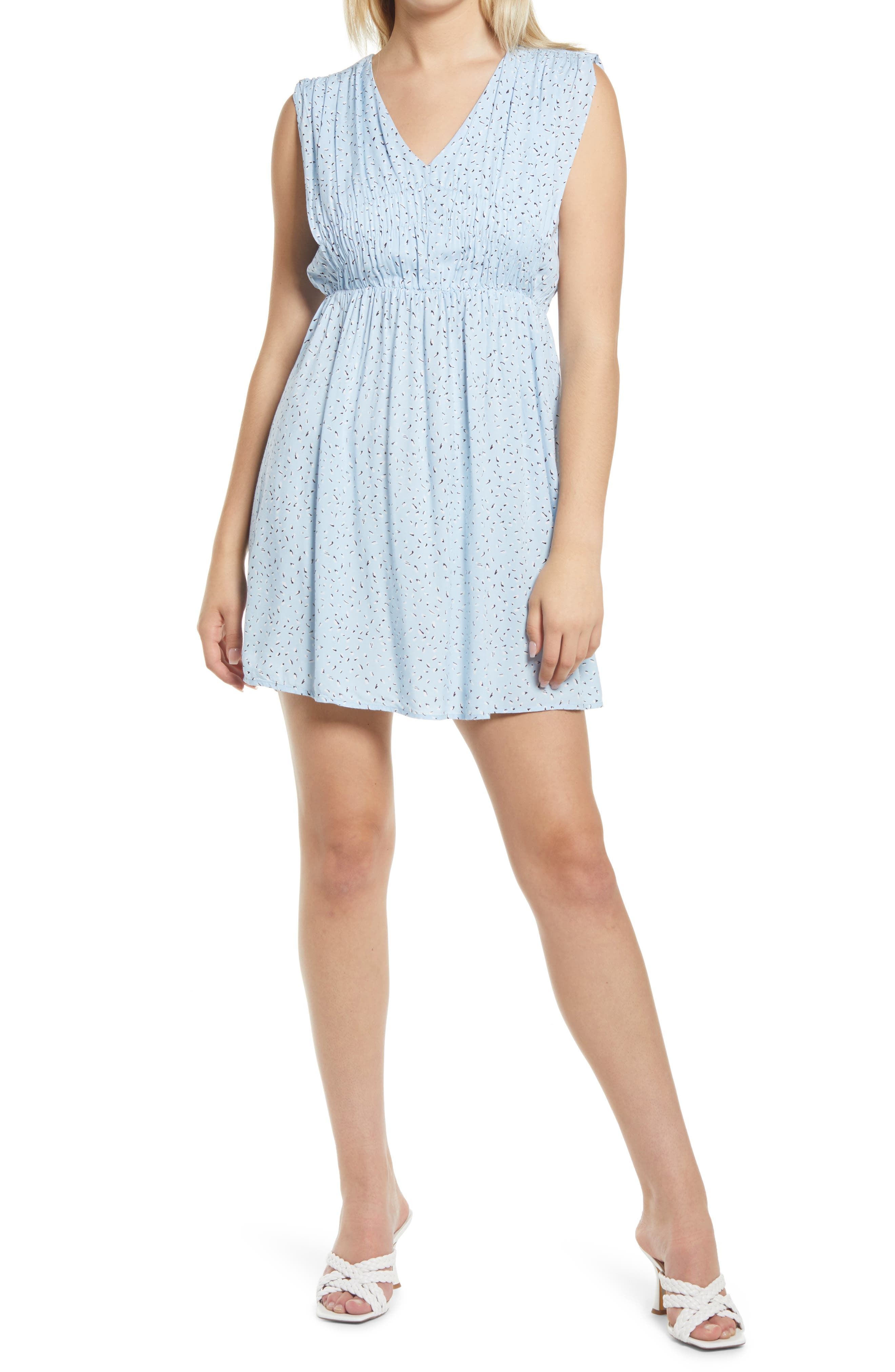 Pam Print V-Neck Dress