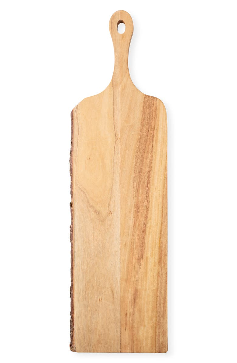 CATHY'S CONCEPTS Monogram Live Edge Mango Wood Serving Board, Main, color, BLANK