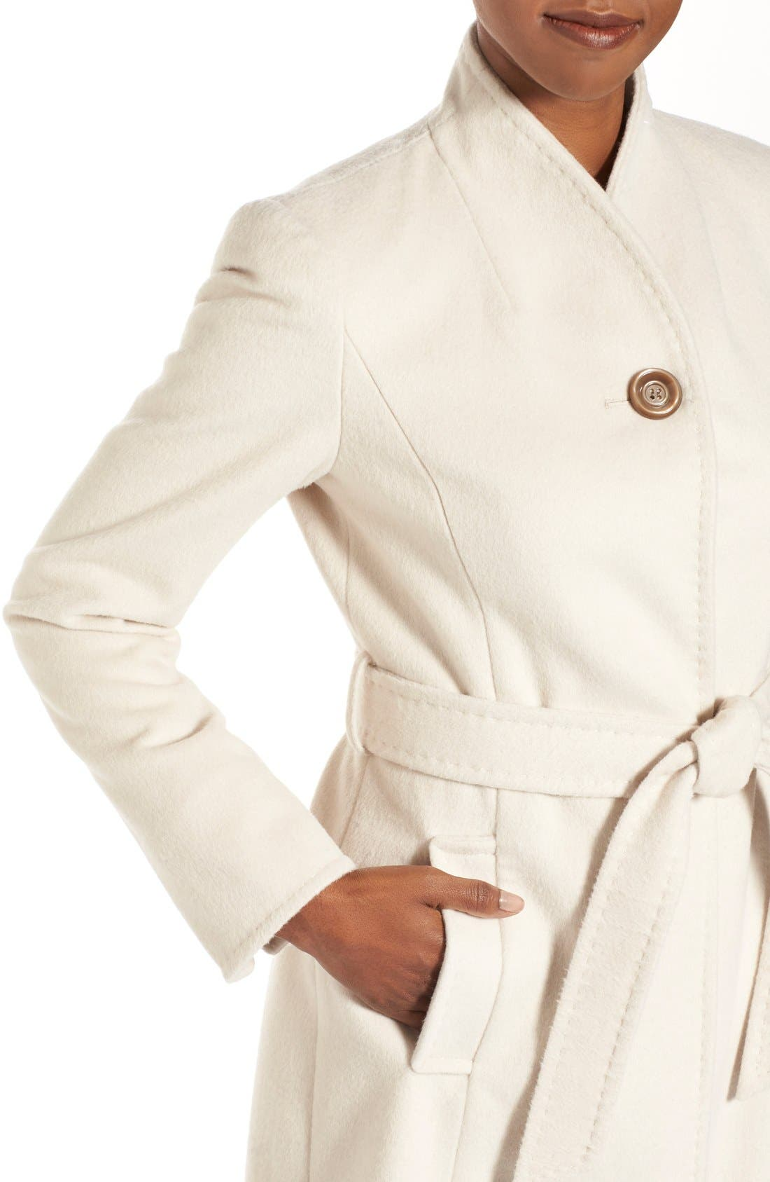 ,                             Belted Wool Blend Stand CollarCoat,                             Alternate thumbnail 14, color,                             112