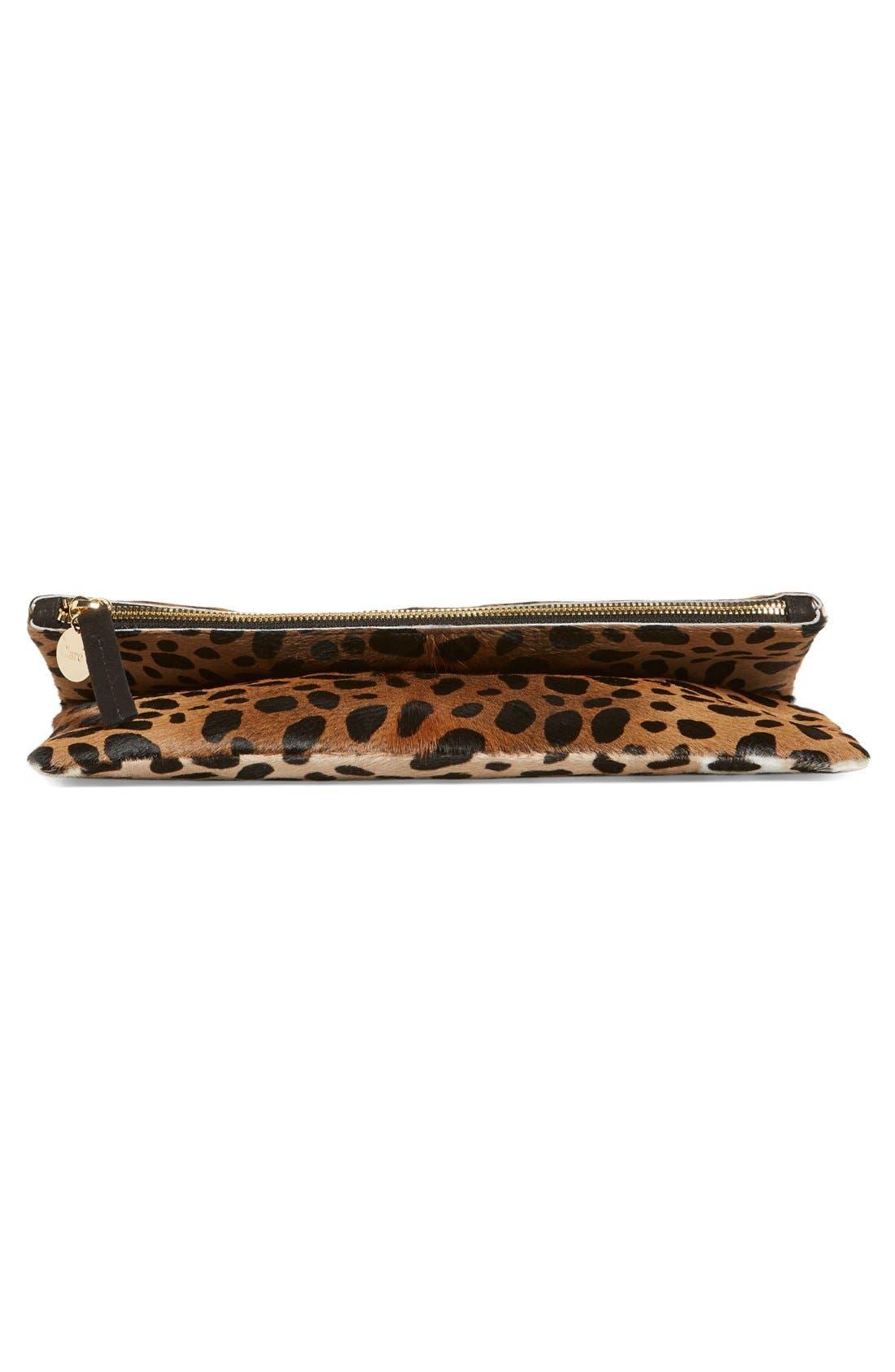 ,                             Genuine Calf Hair Leopard Print Foldover Clutch,                             Alternate thumbnail 11, color,                             250