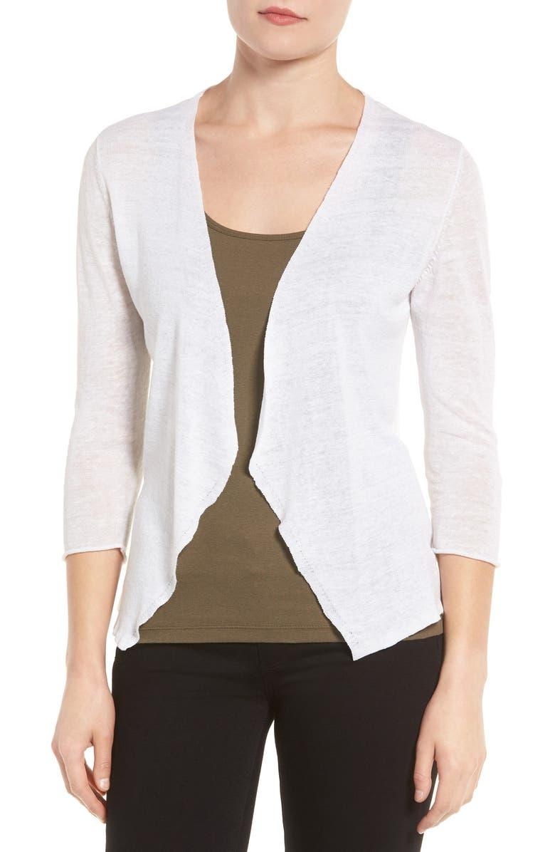 NIC+ZOE Open Blazer Cardigan, Main, color, PAPER WHITE
