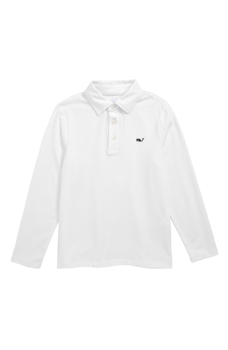 VINEYARD VINES Edgartown Polo, Main, color, WHITE CAP