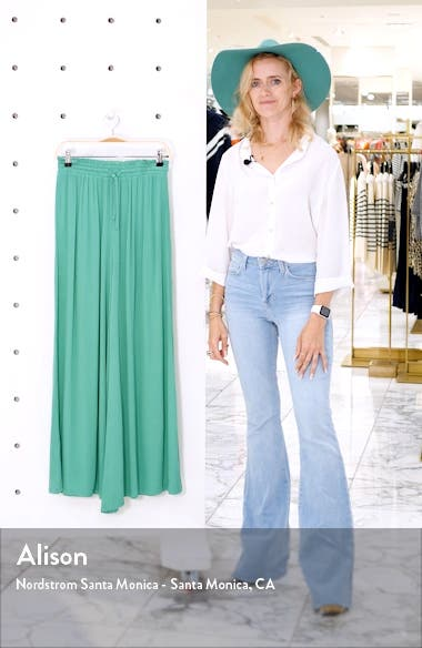 High Waist Wide Leg Cover-Up Pants, sales video thumbnail