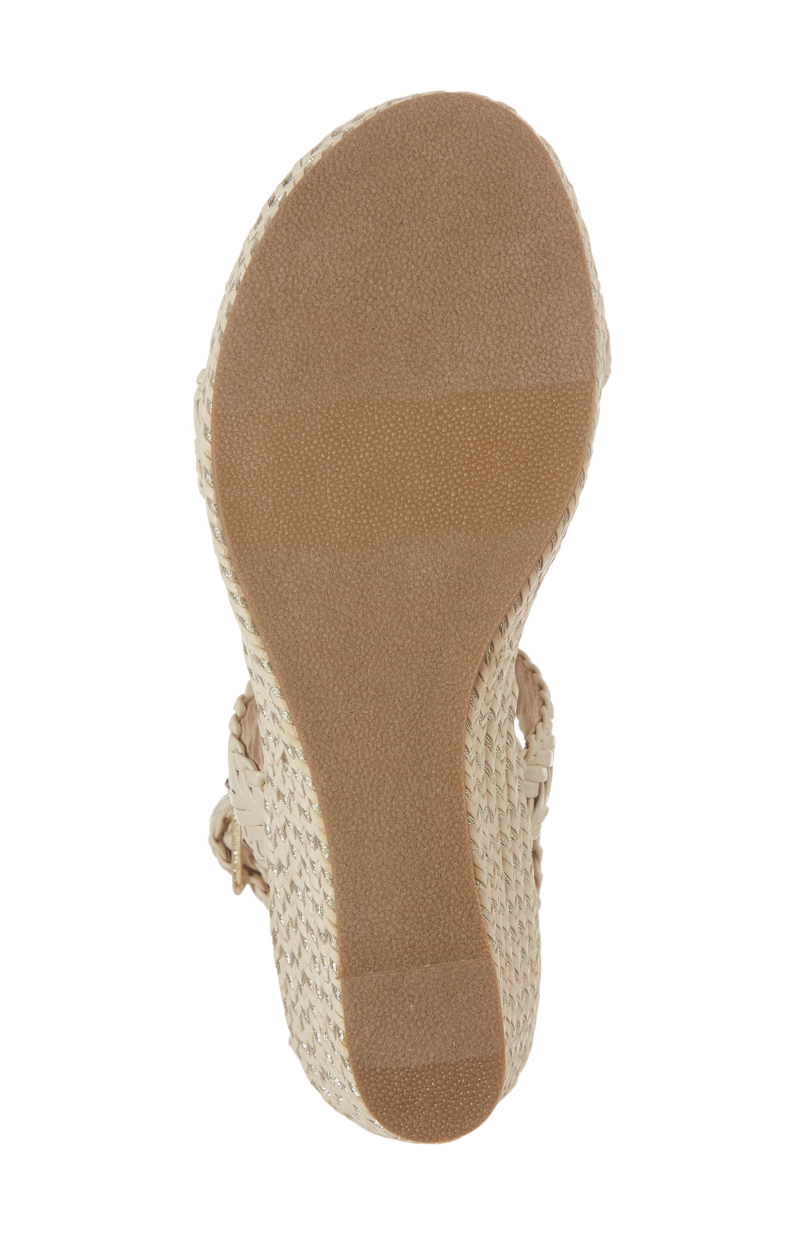 ,                             Akilah Sparkle Wedge Sandal,                             Alternate thumbnail 6, color,                             OFF WHITE