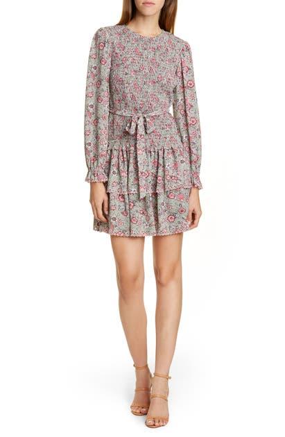 La Vie Rebecca Taylor Dresses CAMILA LONG SLEEVE FLORAL DRESS