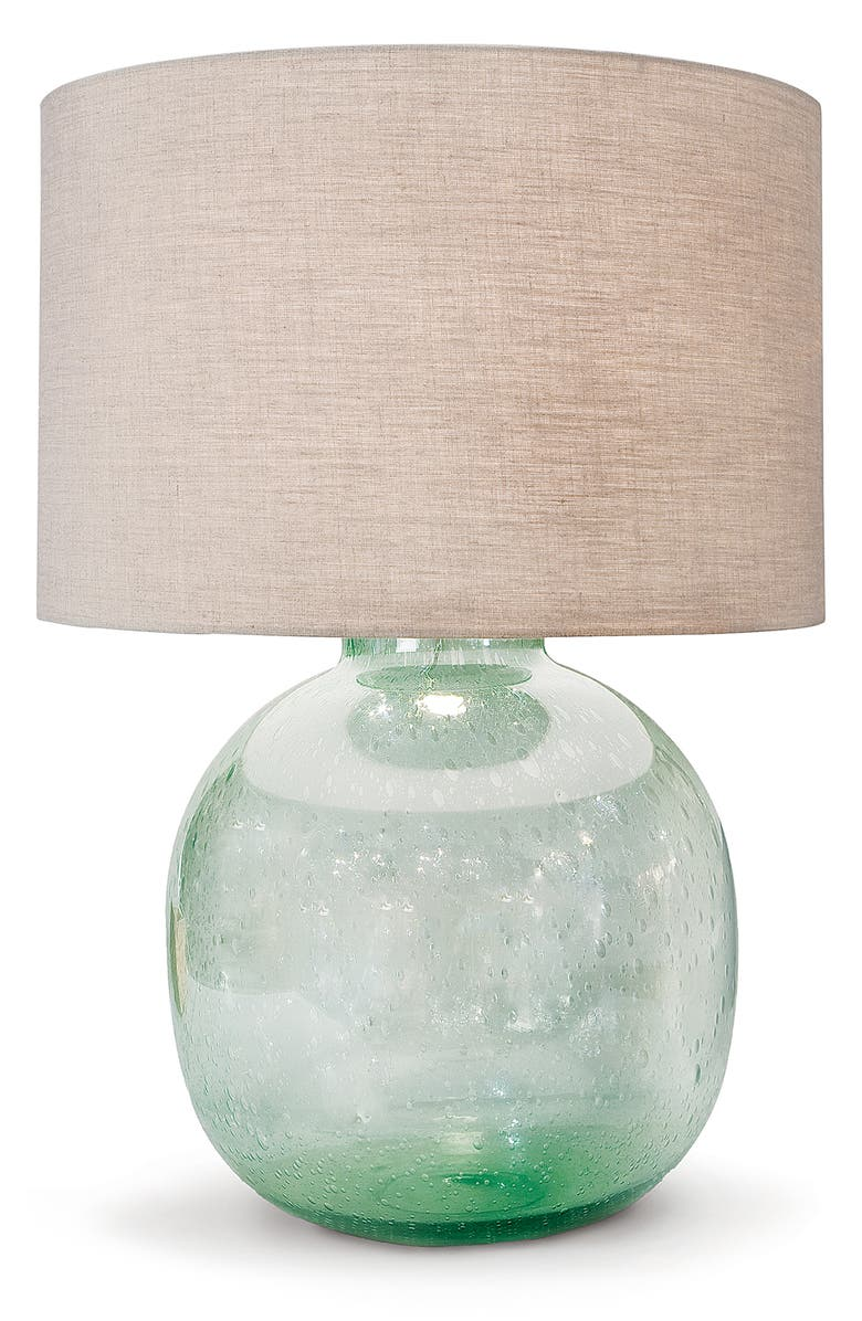 REGINA ANDREW DESIGN Seeded Recycled Glass Lamp, Main, color, GREEN