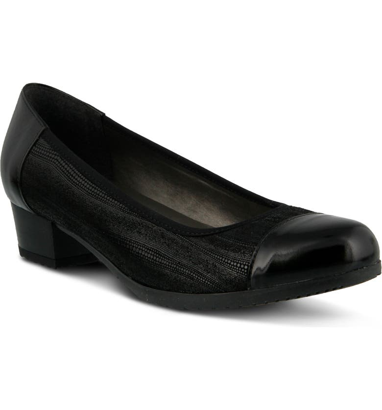 SPRING STEP Norma Pump, Main, color, BLACK LEATHER