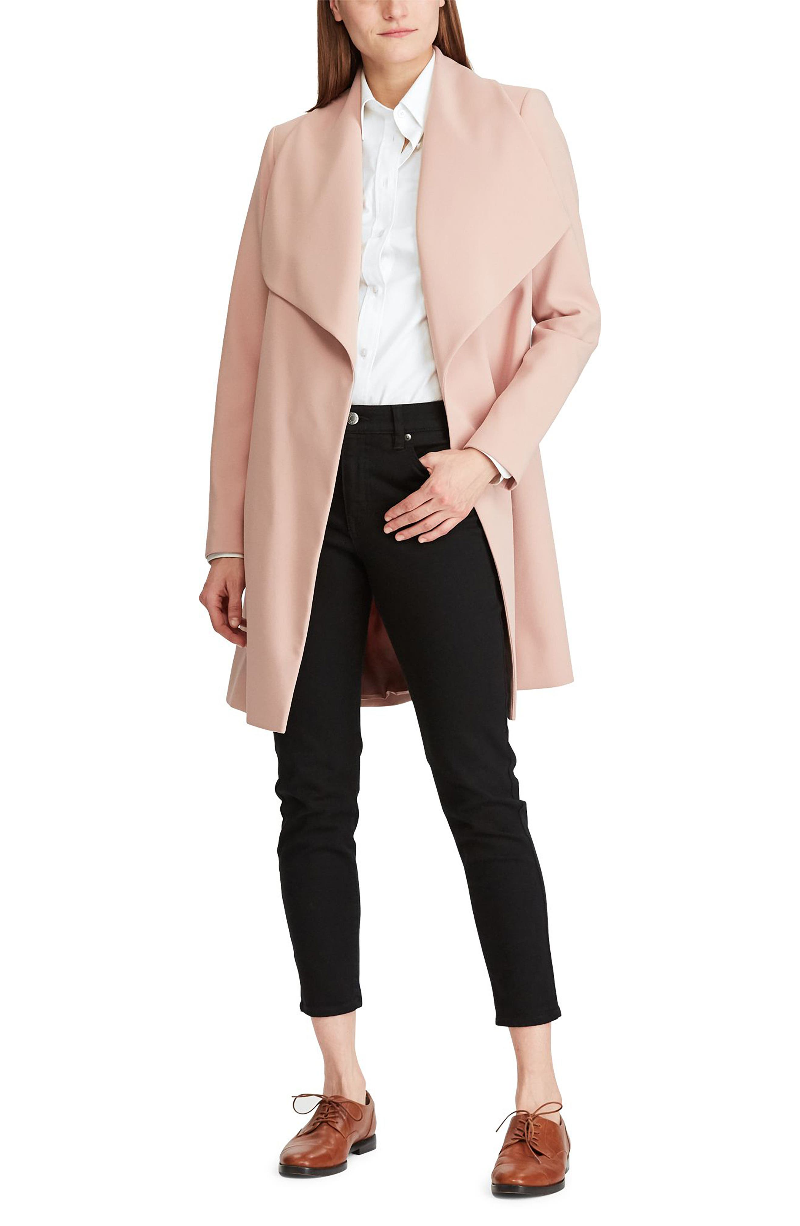 ,                             Belted Drape Front Coat,                             Alternate thumbnail 31, color,                             695