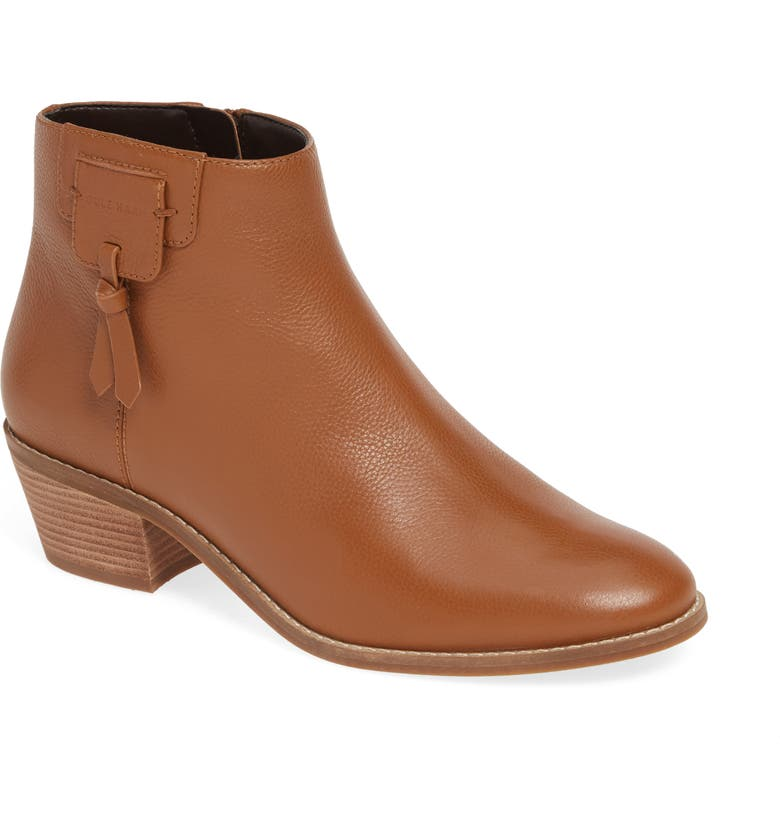 COLE HAAN Joanna Bootie, Main, color, BRITISH TAN LEATHER