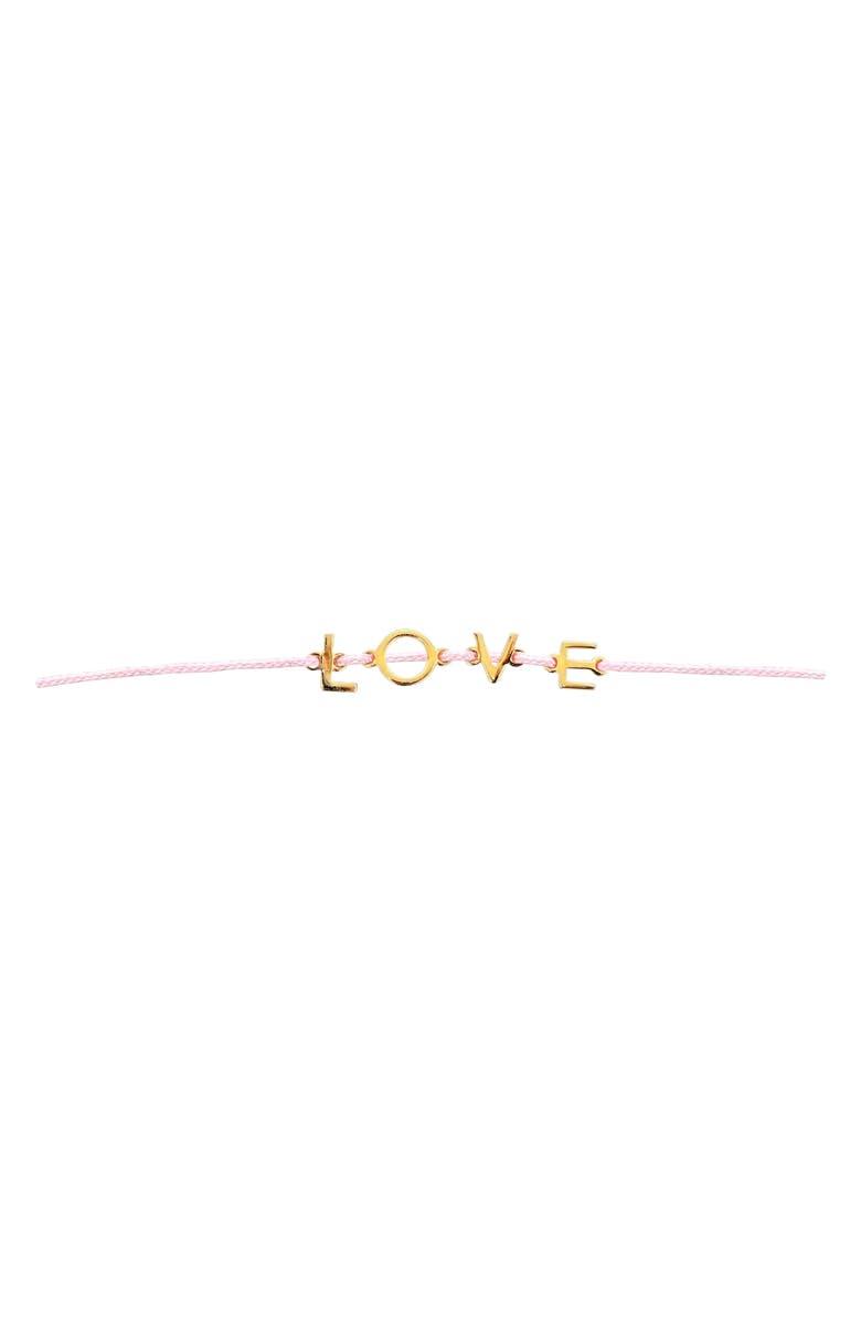 ADORNIA Love String Bracelet, Main, color, 650