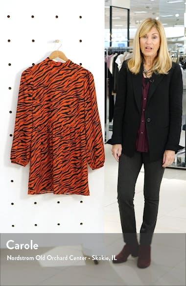 Print Mock Neck Long Sleeve Dress, sales video thumbnail