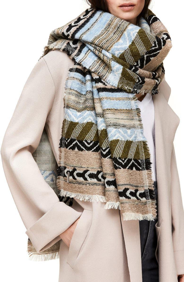 SOIA & KYO Large Knit Scarf, Main, color, 400