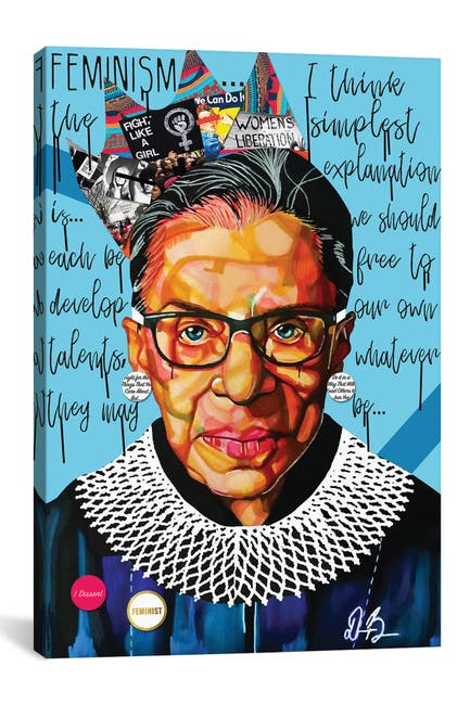 Image of iCanvas Ruth Ginsburg by Domonique Brown