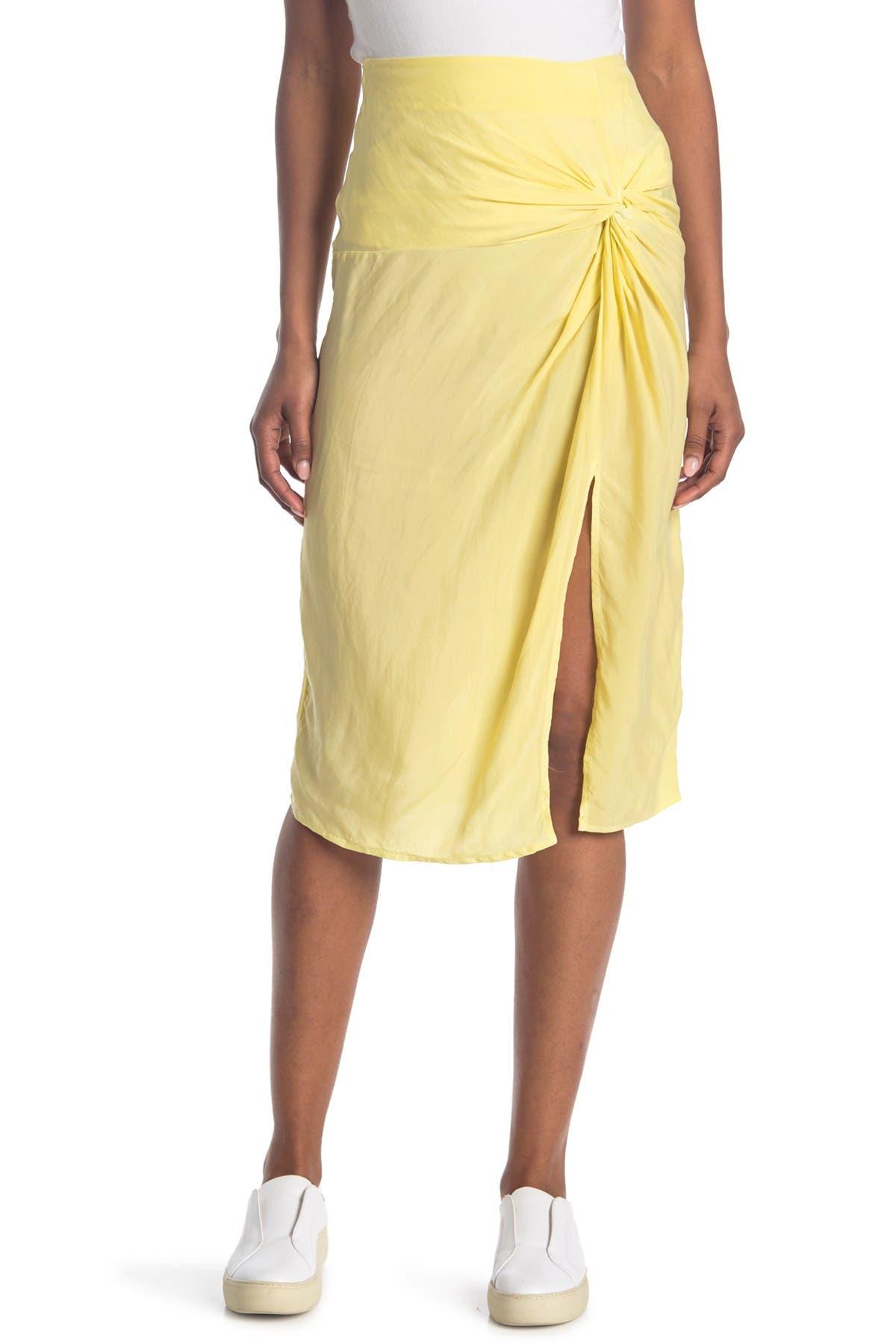 Image of Stateside Cupro Twist Front Skirt