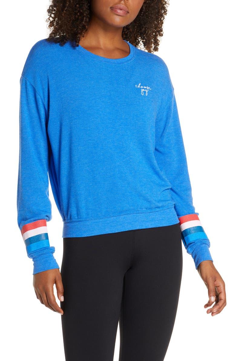 SPIRITUAL GANGSTER Joy Savanna Sweatshirt, Main, color, NEBULUS