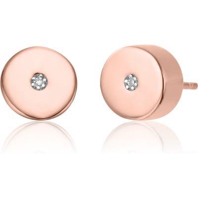 Monica Vinader Linear Solo Diamond Stud Earrings