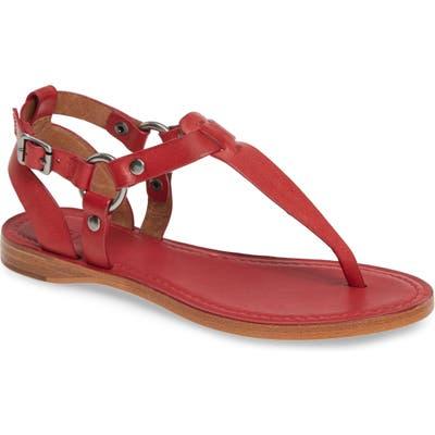 Frye Rachel T-Strap Sandal, Red