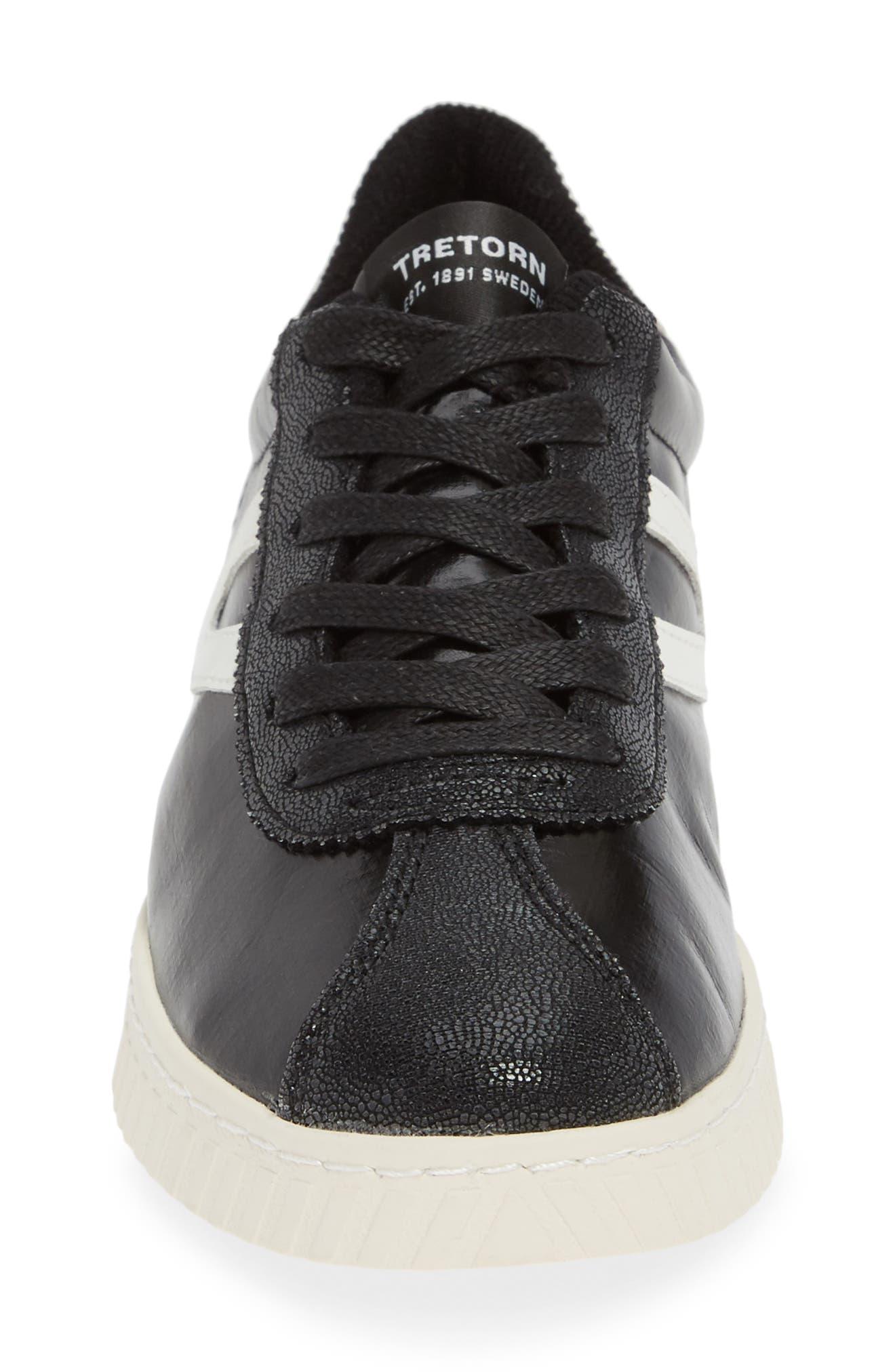 ,                             Callie 5 Sneaker,                             Alternate thumbnail 4, color,                             BLACK/ VINTAGE WHITE FABRIC