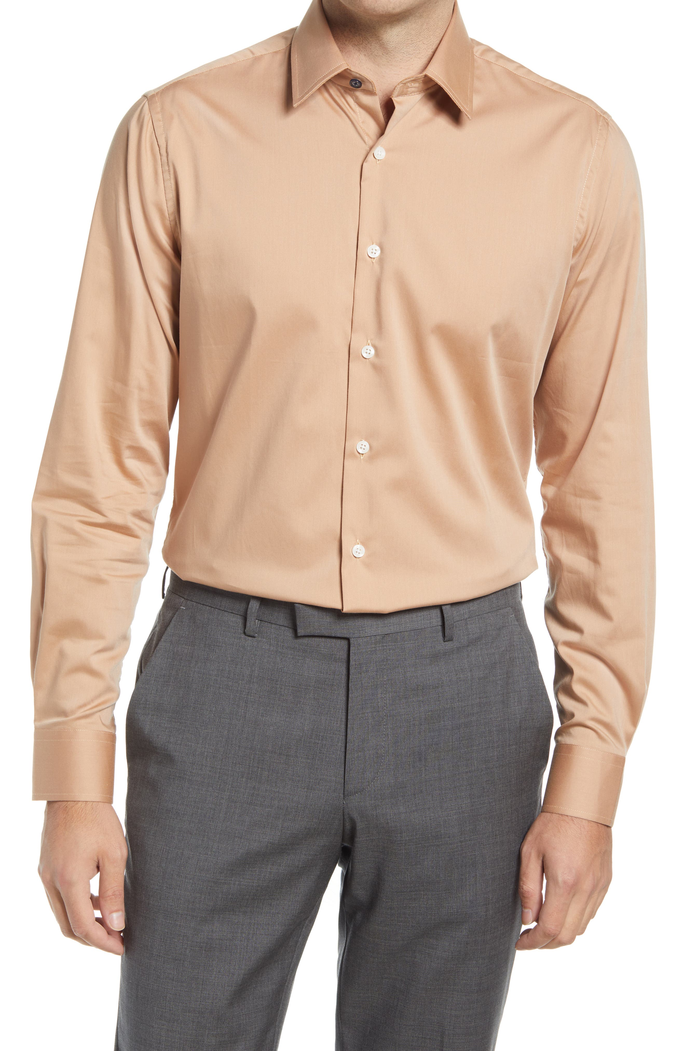Tailored Fit Stretch Dress Shirt