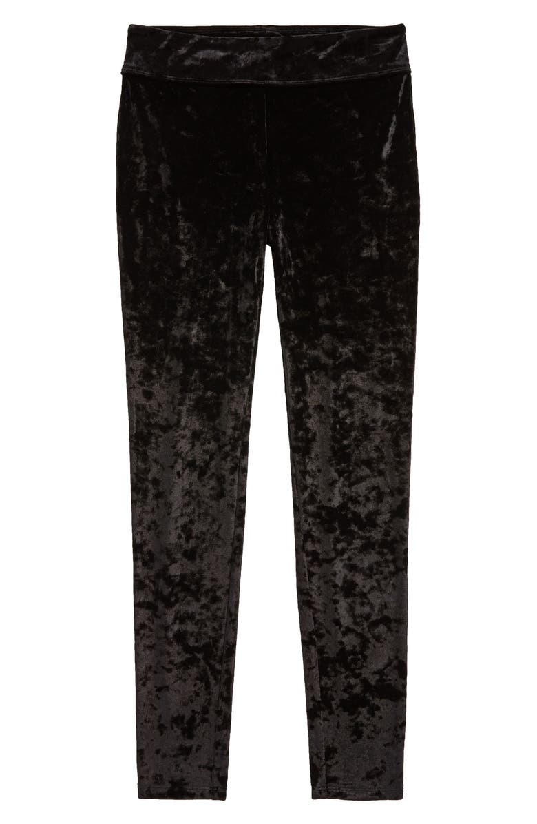 TUCKER + TATE Velour Leggings, Main, color, BLACK