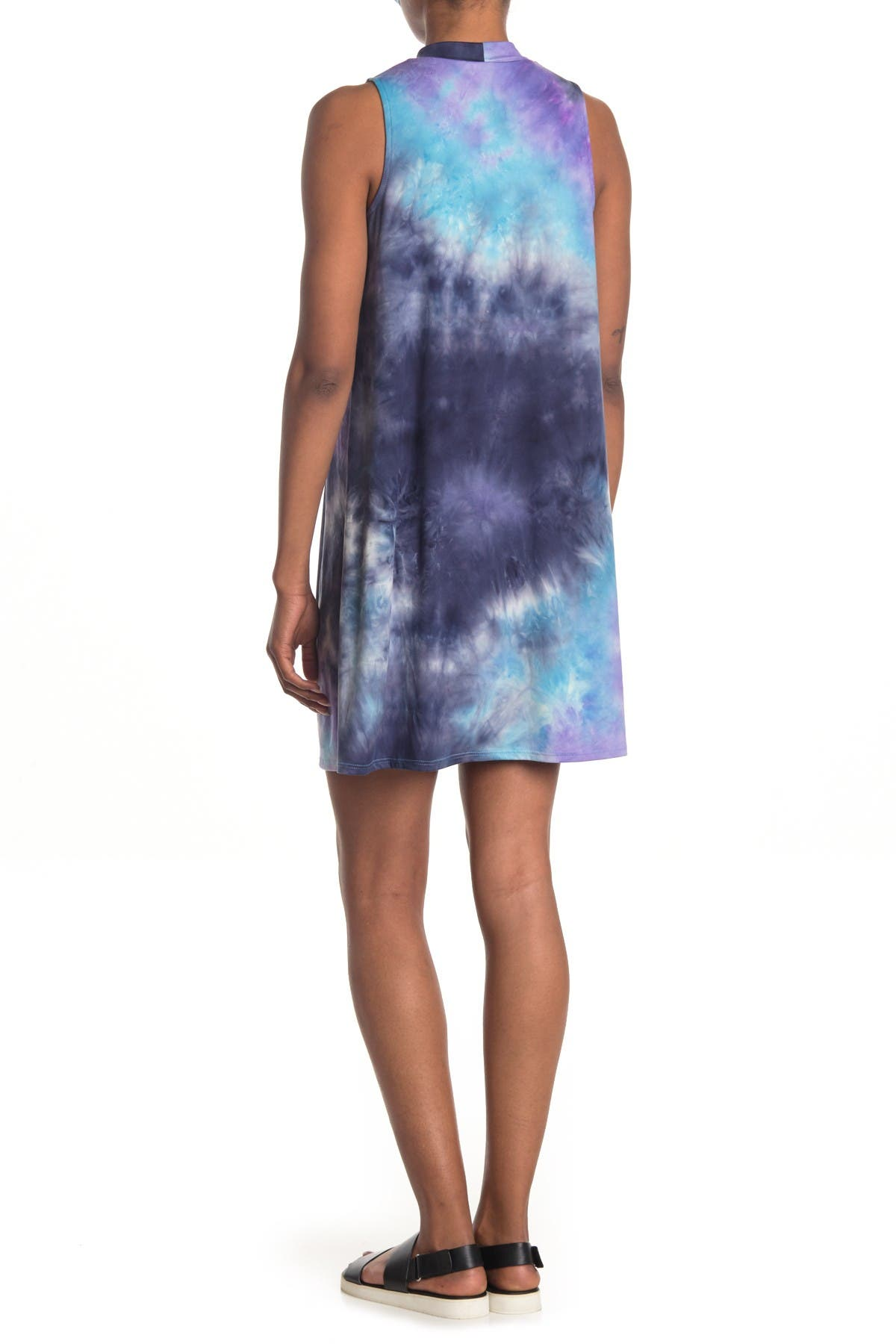Image of TASH + SOPHIE Tie-Dye Sleeveless Shift Dress