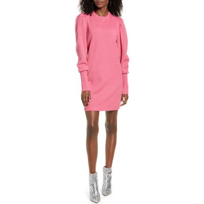 Wayf X Influencers San Francisco Puff Sleeve Sweater Dress, Pink (Nordstrom Exclusive)