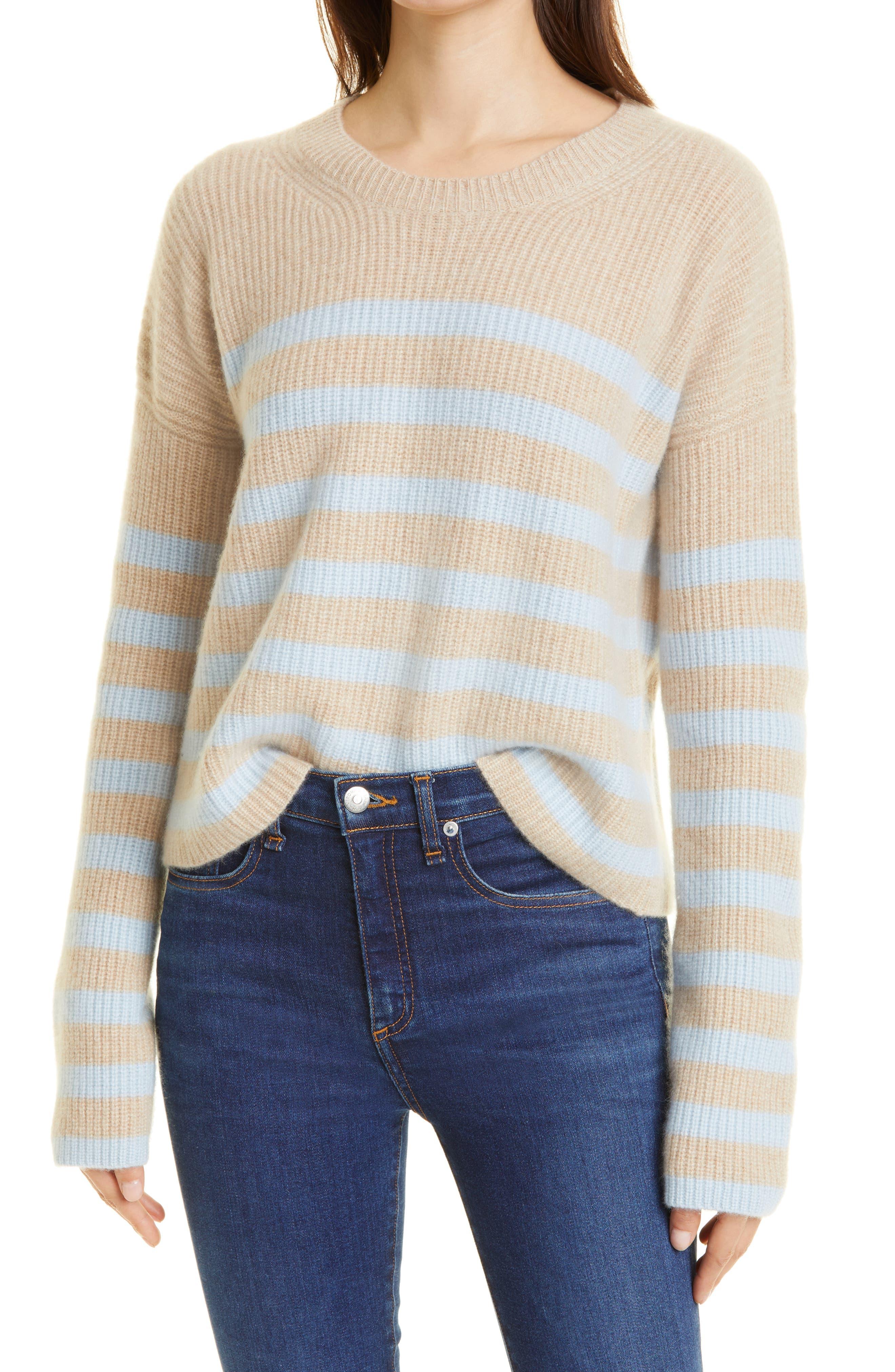 Toujours Stripe Cashmere Sweater