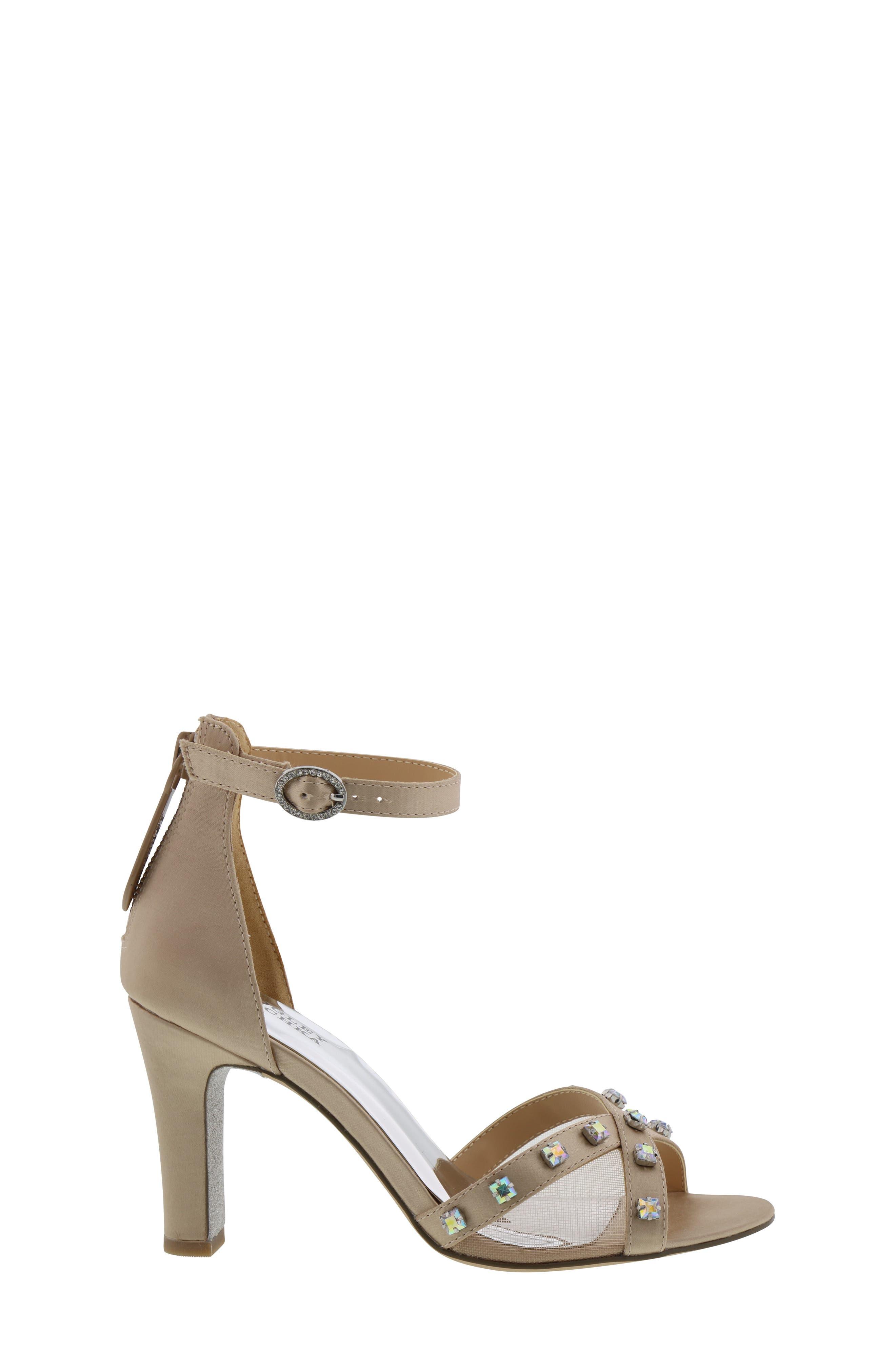,                             Badgley Mischka Kendall Glam Sparkle Sandal,                             Alternate thumbnail 3, color,                             CHAMPAGNE