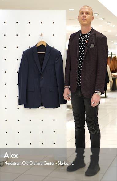 Trim Fit Solid Wool Blazer, sales video thumbnail