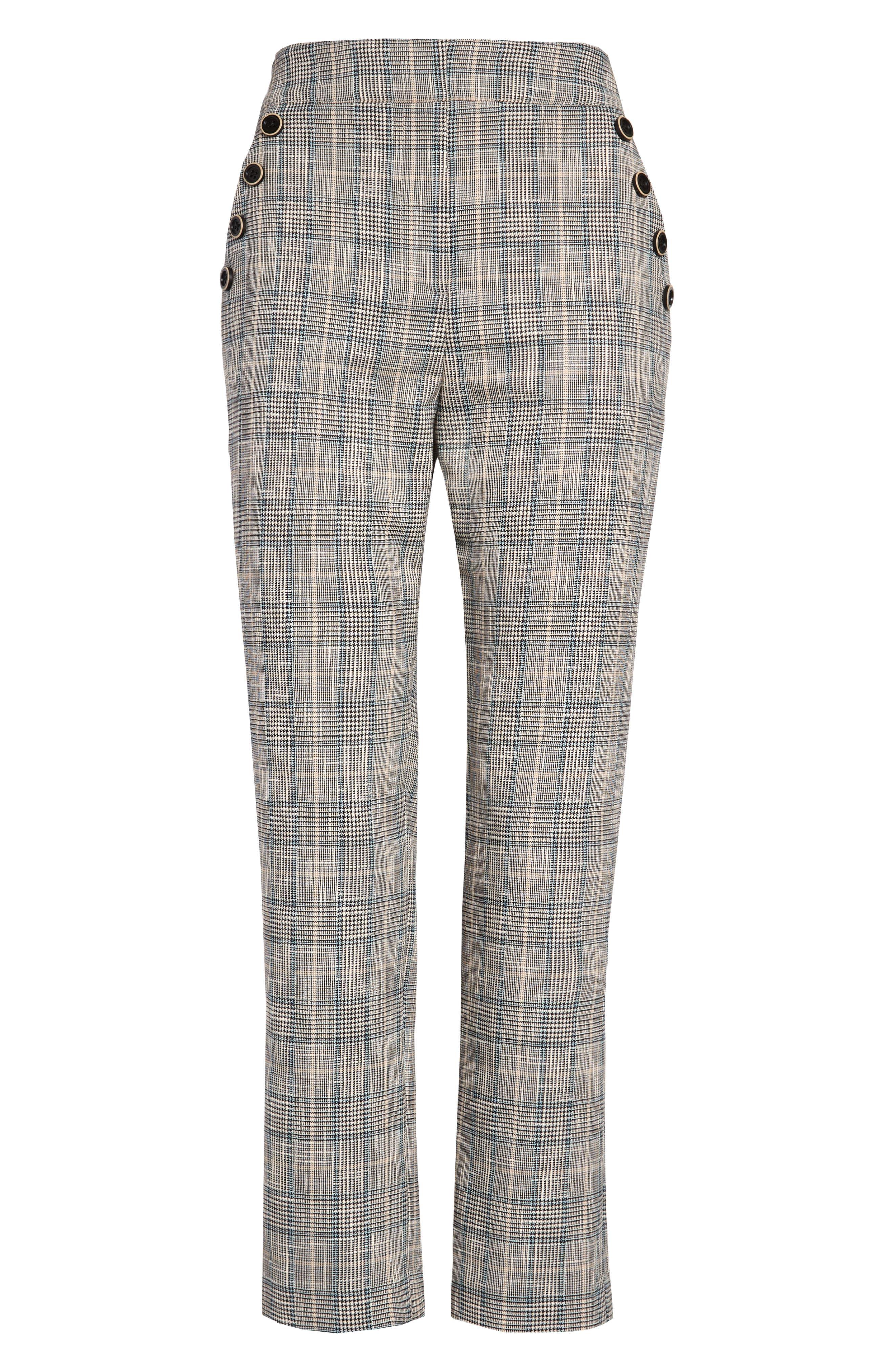 Women's Veronica Beard Friedman Check Pants,  10 - Blue