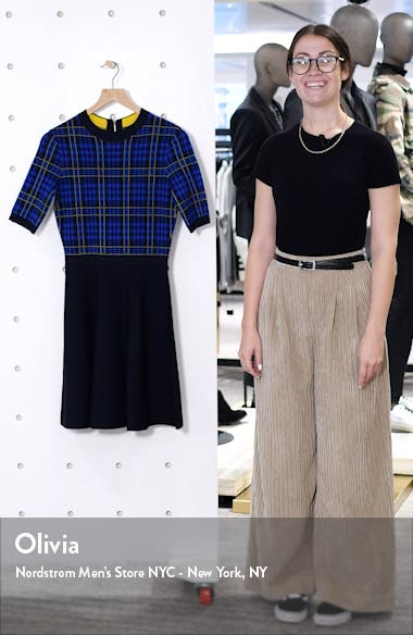 Nilar Check Skater Dress, sales video thumbnail