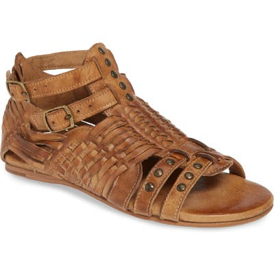 Bed Stu Claire Woven Gladiator Sandal, Brown