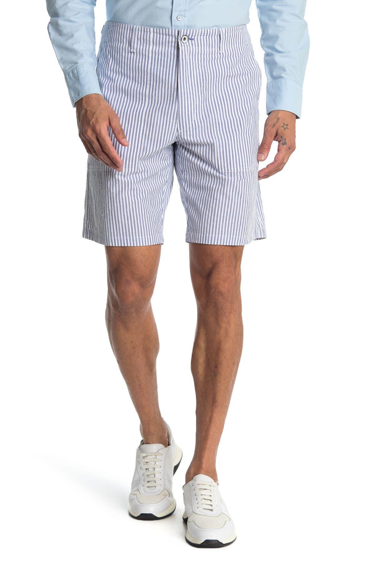 Image of Rag & Bone Franklin Railroad Stripe Shorts