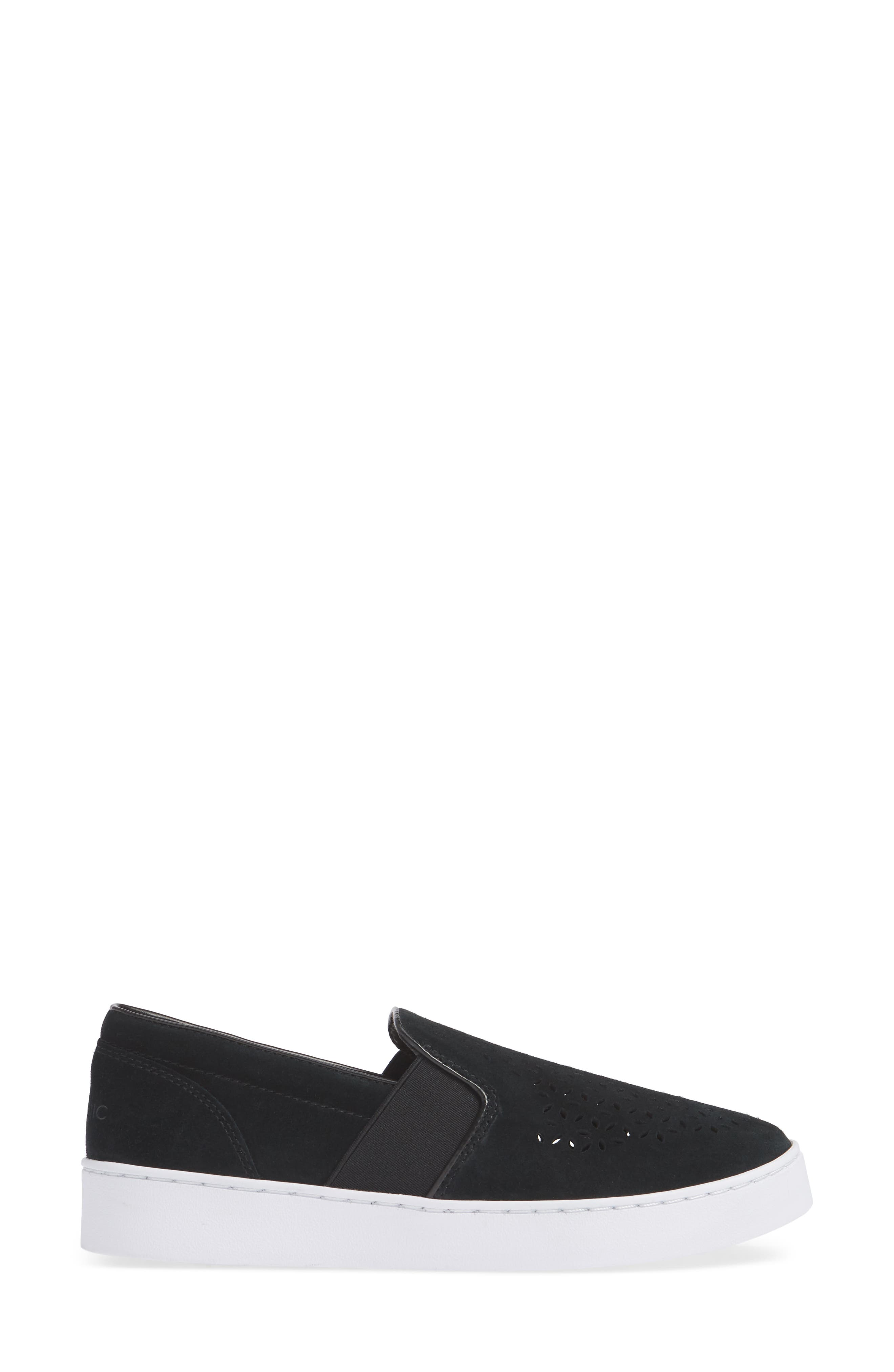 ,                             Kani Perforated Slip-On Sneaker,                             Alternate thumbnail 3, color,                             BLACK NUBUCK