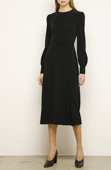 Essentials Pleated Panel Midi Dress, video thumbnail