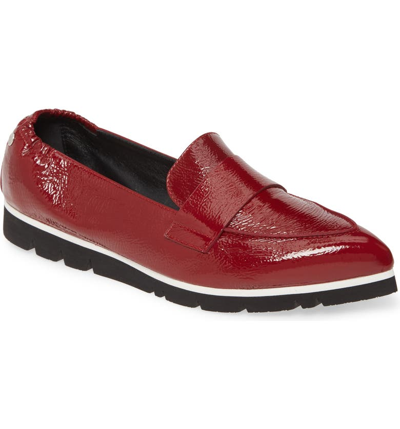 AGL Micro Pointed Toe Loafer, Main, color, CHIANTI GLAMMY