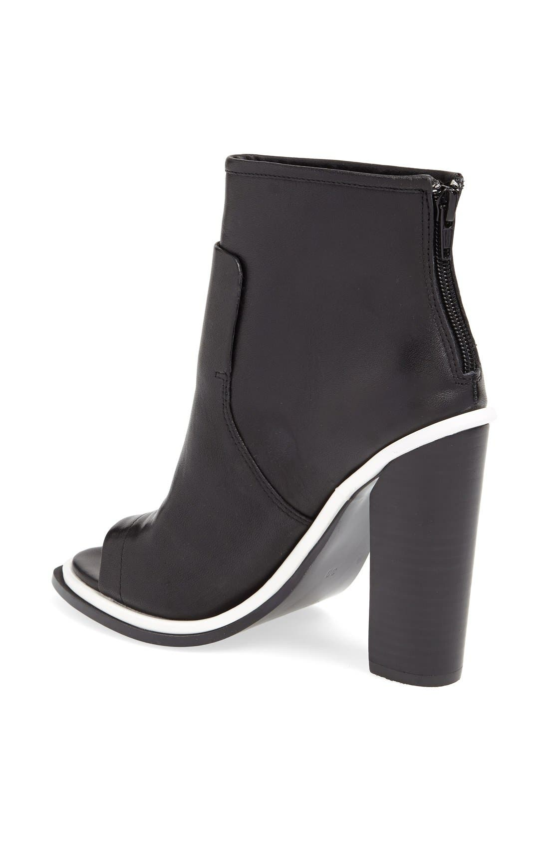 ,                             'Pounce' Peep Toe Boot,                             Alternate thumbnail 3, color,                             001