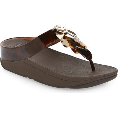 Fitflop Conga Dragonfly Flip Flop(Women), Brown (Nordstrom Exclusive)